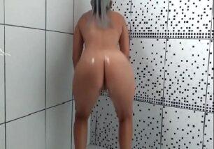 裸女在浴室跳舞放克 306x214